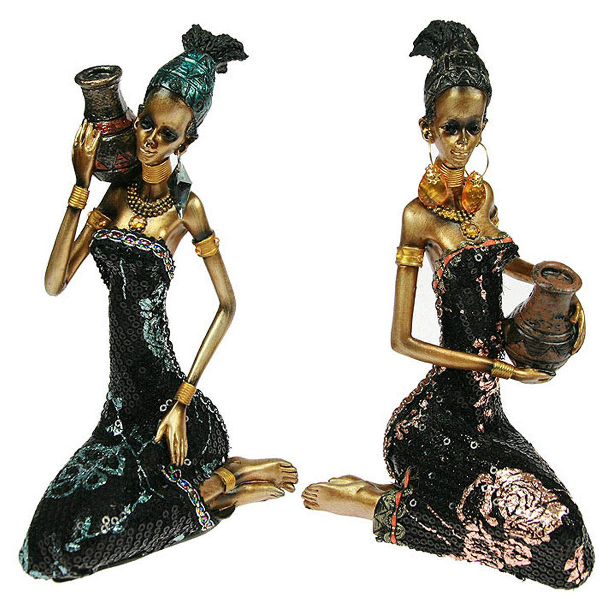 Статуэтка Русские Подарки Африканка, 10 х 11 х 19 см статуэтка lefard африканка 174 311