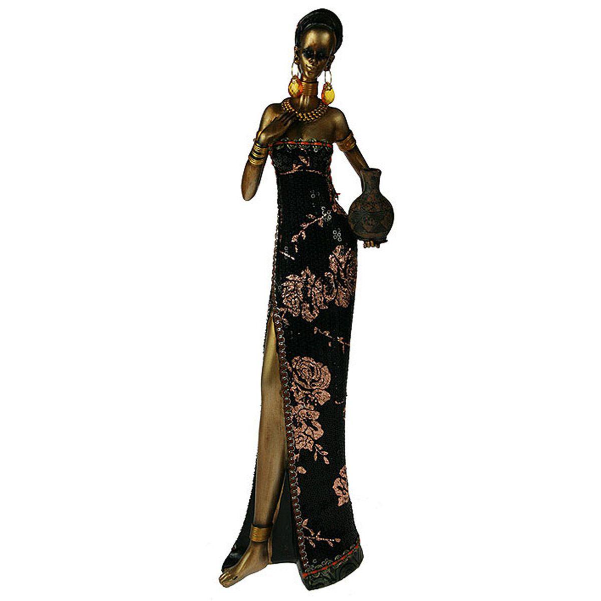 Статуэтка Русские Подарки Африканка, 14 х 8 х 43 см. 26126 статуэтка русские подарки африканка 11 х 15 х 24 см