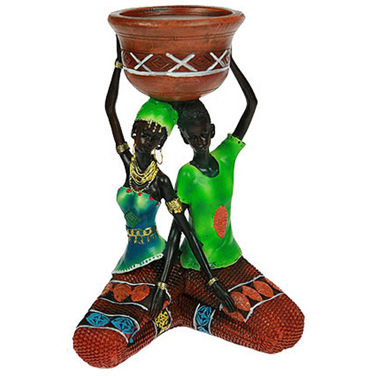Статуэтка Русские Подарки Африканка, 16 х 12 х 23 см. 26128 статуэтка русские подарки африканка 6 х 11 х 20 см