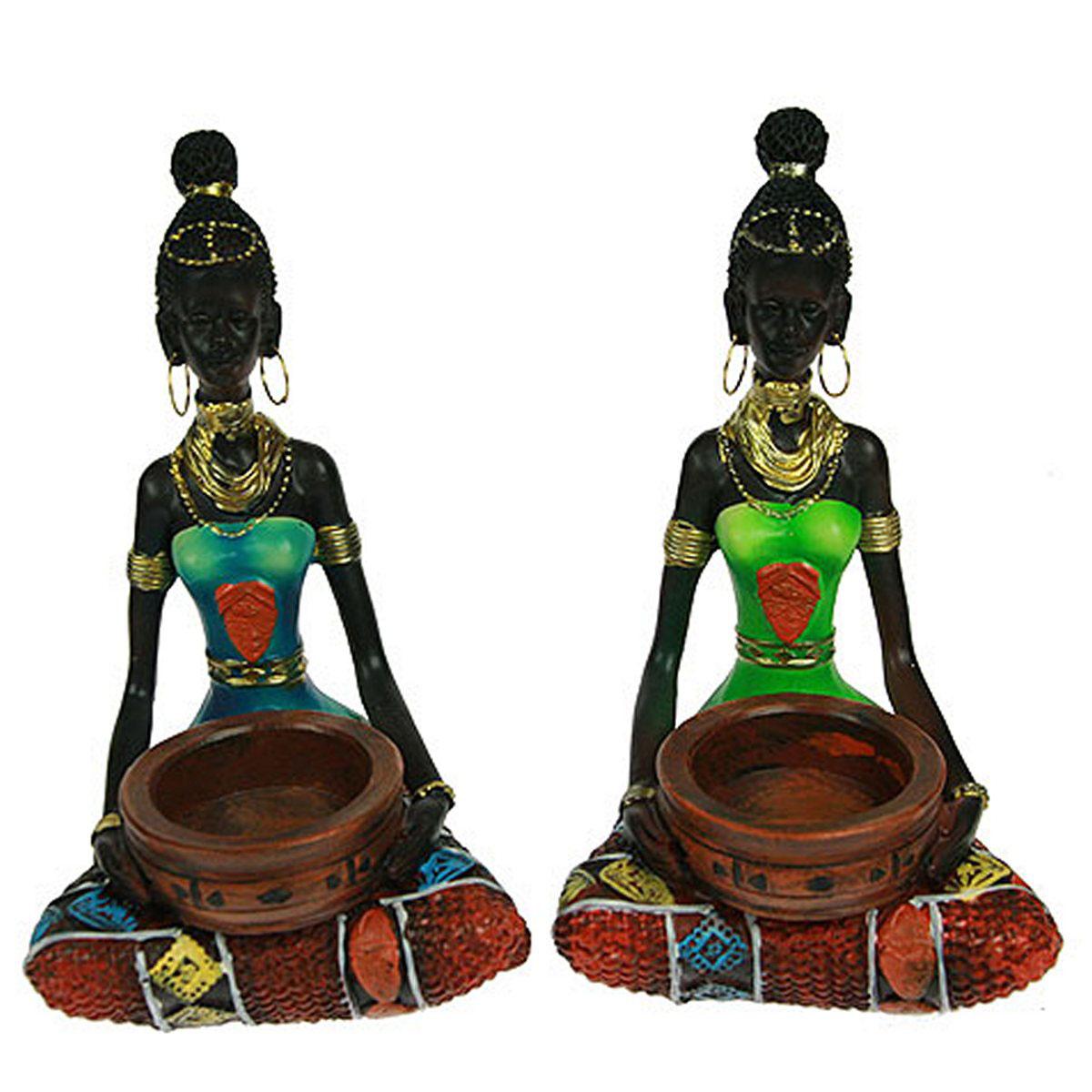 Статуэтка Русские Подарки Африканка, 10 х 10 х 15 см статуэтка lefard африканка 174 311