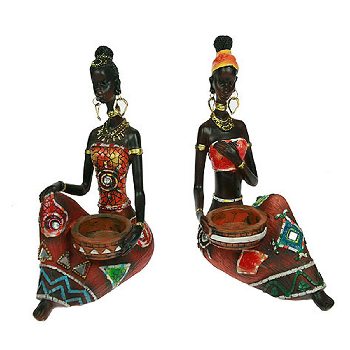 Статуэтка Русские Подарки Африканка, 16 х 10 х 21 см статуэтка русские подарки мисс рандеву 11 х 10 х 31 см