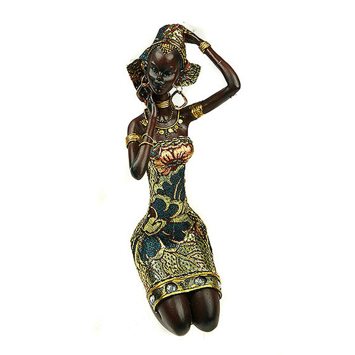 Статуэтка Русские Подарки Африканка, 12 х 12 х 23 см статуэтка русские подарки африканка 11 х 15 х 24 см