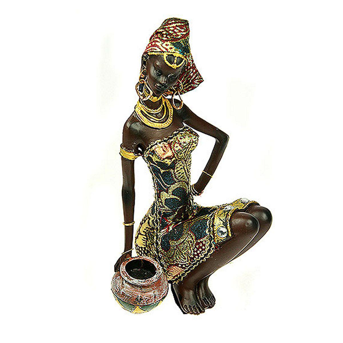 Статуэтка Русские Подарки Африканка, 14 х 13 х 23 см26147Статуэтка Русские Подарки Африканка, изготовленная из полистоуна, имеет изысканный внешний вид. Изделие станет прекрасным украшением интерьера гостиной, офиса или дома. Вы можете поставить статуэтку в любое место, где она будет удачно смотреться и радовать глаз. Правила ухода: регулярно вытирать пыль сухой, мягкой тканью.