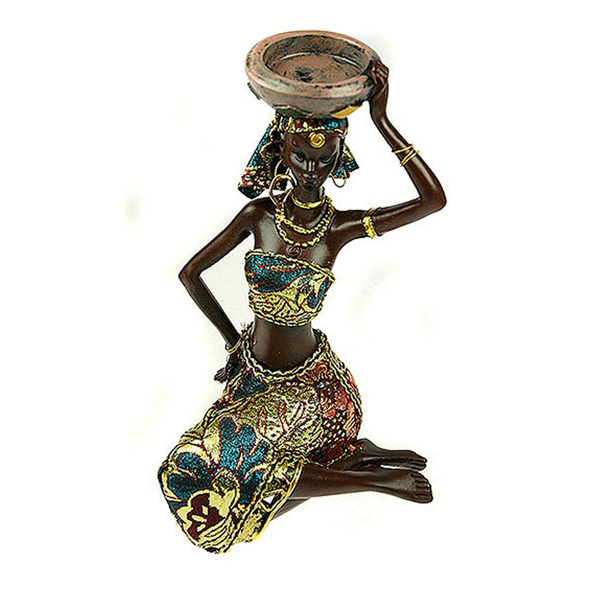 Статуэтка Русские Подарки Африканка, 14 х 15 х 22 см статуэтка русские подарки африканка 11 х 15 х 24 см