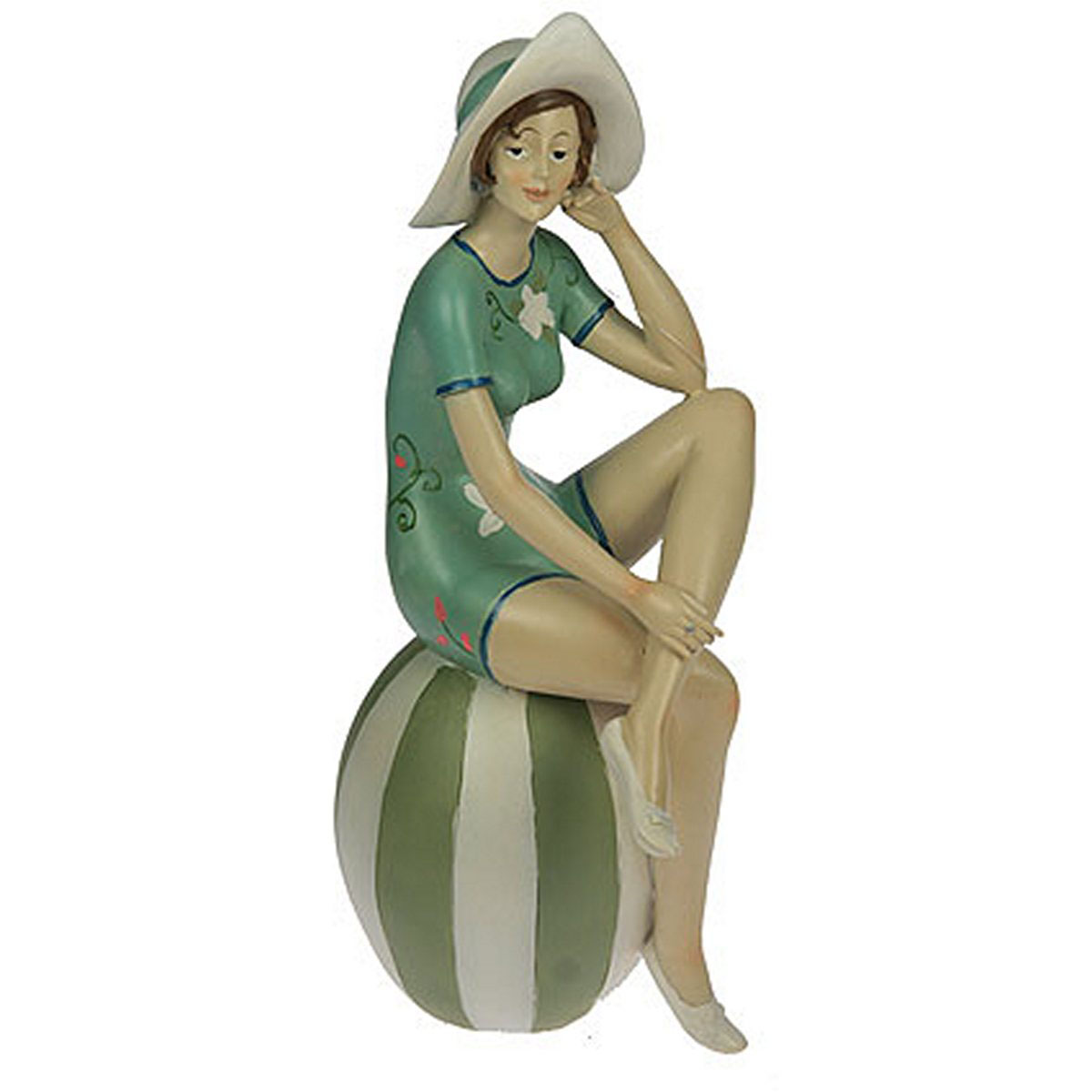 Статуэтка Русские Подарки Девушка на пляже, 15 х 11 х 30 см статуэтка русские подарки африканка 12 х 9 х 34 см