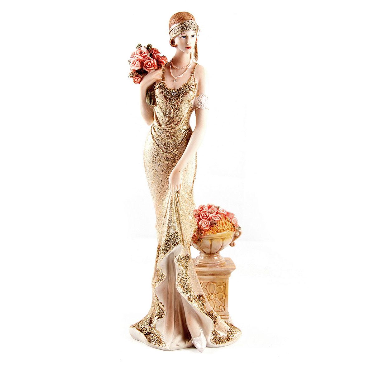 Статуэтка Русские Подарки Мисс Нежность, 13 х 10 х 34 см ваза русские подарки винтаж высота 31 см 123710