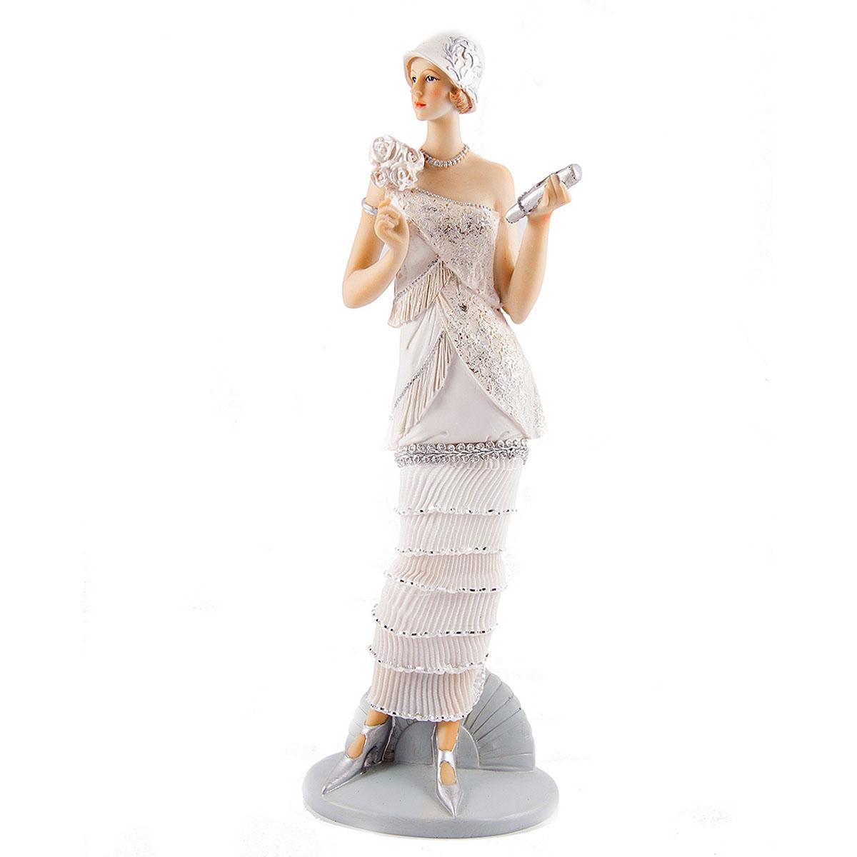 Статуэтка Русские Подарки Мисс Обаяние, 12 х 10 х 34 см27647Статуэтка Русские Подарки Мисс Обаяние, изготовленная изполистоуна, имеет изысканный внешний вид. Изделие станет прекрасным украшением интерьерагостиной, офиса или дома. Вы можете поставить статуэтку влюбое место, где она будет удачно смотреться и радоватьглаз. Правила ухода: регулярно вытирать пыль сухой, мягкой тканью.