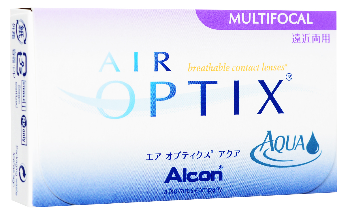 Alcon-CIBA Vision контактные линзы Air Optix Aqua Multifocal (3шт / 8.6 / 14.2 / -5.25 / Low)