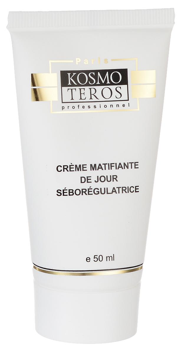 Kosmoteros Дневной матирующий крем- себорегулятор Creme de Jour Matifiant Sebo Regulateur - 50 мл5019Обеспечивает комплексный уход за жирной кожей и кожей с угревыми высыпаниями различной этиологии, противодействуя всем причинам, вызывающим угри – повышенному салоотделению, гиперкаратозу, росту бактерий, локальным высыпаниям.Поддерживает необходимый уровень увлажнения кожи, восстанавливая гидратацию дермы, cохраняет матовость кожи в течении всего дня, кожа не блестит, поры сужены, кожа выглядит гладкой и подтянутой. Основные активные компоненты: Hyasealon 1, 2%, Acnet 4, 0%, Matipure 2, 0%, масло ши, витамин Е. Показания к применению: для ухода за жирной, проблемной и склонной к акне кожей. Великолепная база под макияж.