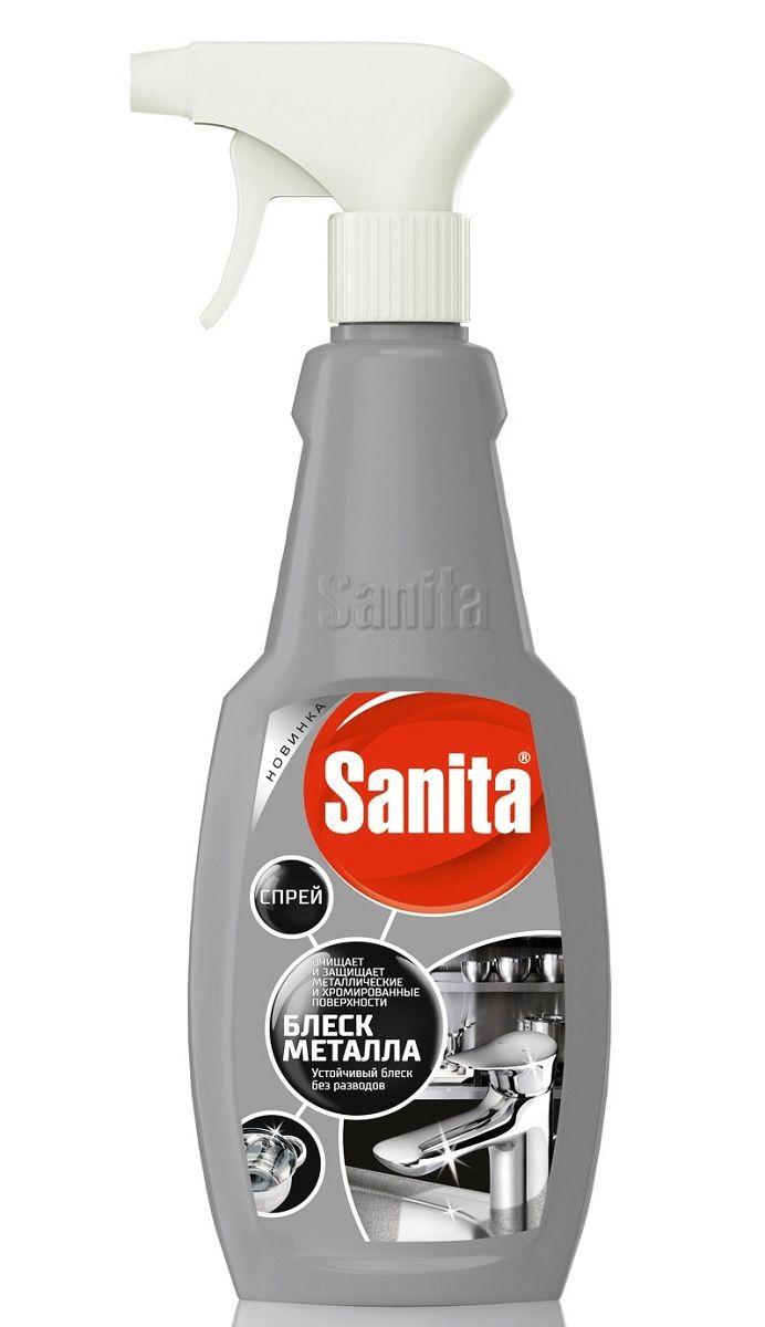 Чистящее средство Sanita Блеск металла, 500 мл4602984010424Средство предназначено для чистки и бережного ухода за поверхностями из нержавеющей стали: кранами, вытяжными шкафами и прочими поверхностями. Удаляет известковый налет, грязь, жировые загрязнения, придает сияние и блеск. Средство хорошо смывается и не оставляет разводов после высыхания. Способ применения: распылить средство на поверхность, выдержать 5-15 мин и смыть водой.Состав: > 5 %, но < 15 % кислота лимонная, < 5 % АПАВ, < 5 %: НПАВ, краситель, ароматизирующая добавка.
