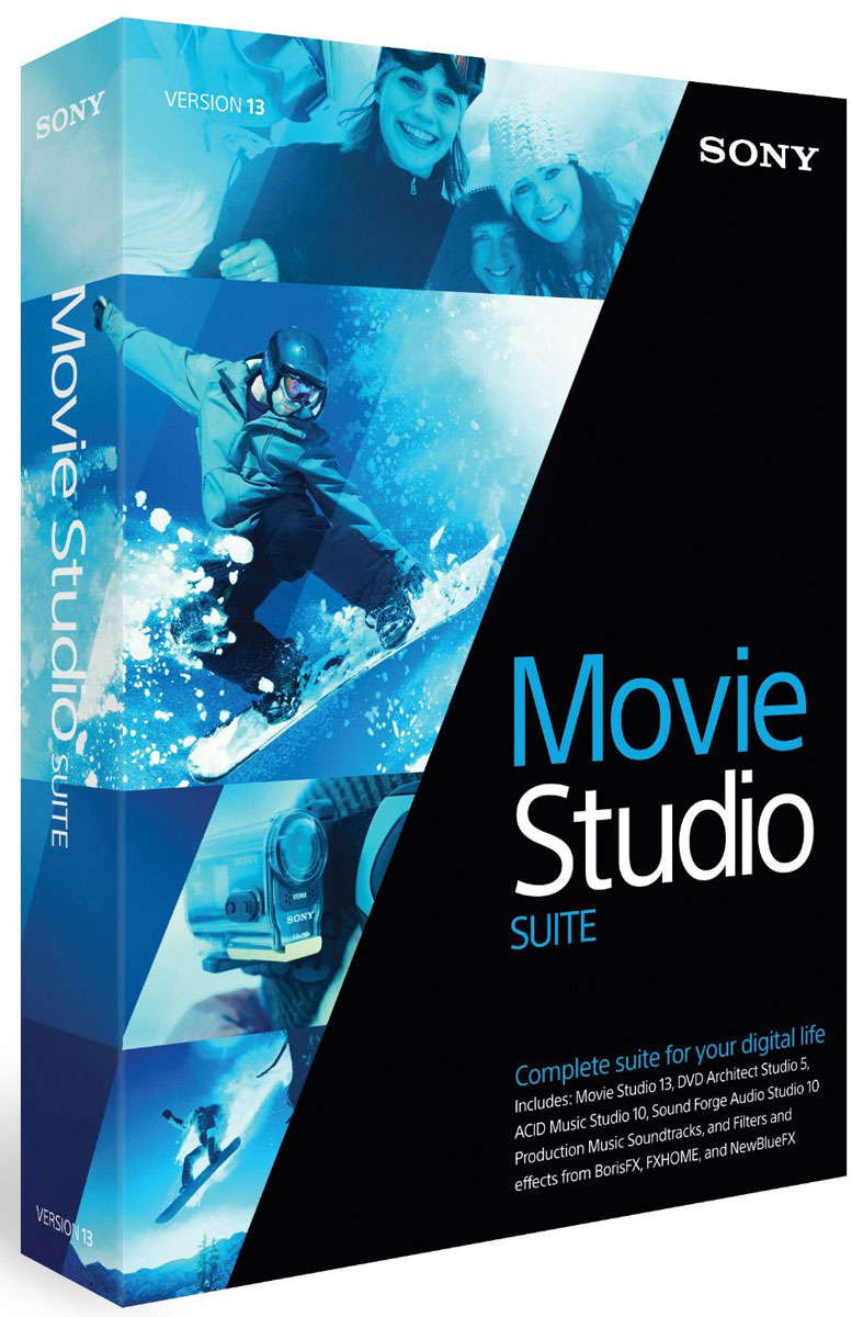 Sony Movie Studio 13 Suite фильм