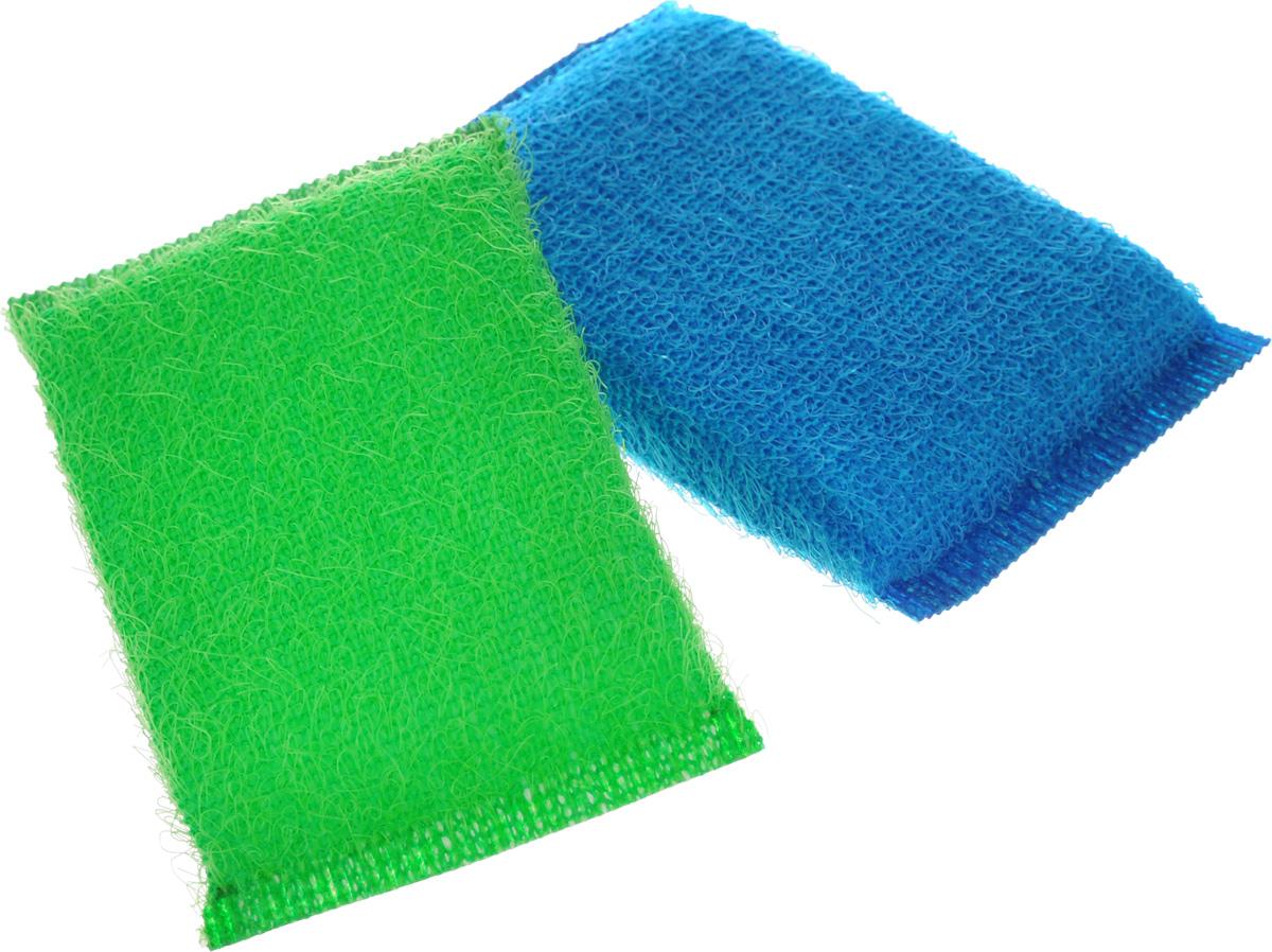 Губка для мытья посуды Хозяюшка Мила Кактус, цвет: зеленый, синий, 2 шт01008-160_зеленый, синийНабор Хозяюшка Мила Кактус состоит из 2 губок, изготовленных из поролона. Они предназначены для интенсивной чистки и удаления сильных загрязнений с посуды (противни, решетки-гриль, кастрюли).Не рекомендуется использовать для посуды с антипригарным покрытием. Губки сохраняют чистоту и свежесть даже после многократного применения, а их эргономичная форма удобна для руки.Размер губки: 12 х 2 х 8 см.