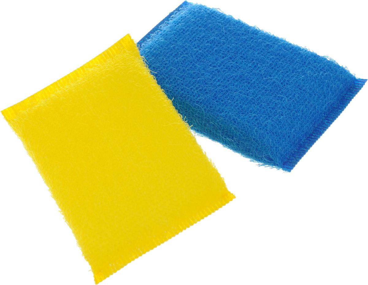 Губка для мытья посуды Хозяюшка Мила Кактус, цвет: желтый, синий, 2 шт01008-160_желтый, синийНабор Хозяюшка Мила Кактус состоит из 2 губок, изготовленных из поролона. Они предназначены для интенсивной чистки и удаления сильных загрязнений с посуды (противни, решетки-гриль, кастрюли).Не рекомендуется использовать для посуды с антипригарным покрытием. Губки сохраняют чистоту и свежесть даже после многократного применения, а их эргономичная форма удобна для руки.Размер губки: 12 х 2 х 8 см.