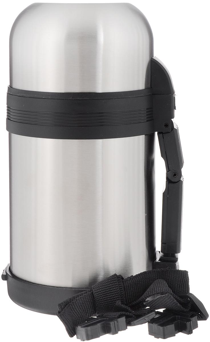 Термос Добрыня, с широким горлом, 800 млDO - 1822Термос с широким горлом Добрыня, изготовленный из высококачественной нержавеющей стали 18/10, прост в использовании и многофункционален. Изделие имеет двойные стенки, что позволяет содержимому долго оставаться горячим или холодным. Термос снабжен удобной ручкой, крышкой-чашкой. Для удобной переноски предусмотрен специальный ремешок. Термос сохраняет температуру горячих или холодных продуктов до 24 часов.Не рекомендуется мыть в посудомоечной машине.Высота (с учетом крышки): 21,5 см.Диаметр горлышка: 7 см.Диаметр чашек: 9,5 см; 10,5 см.Высота чашек: 4 см; 6,5 см.