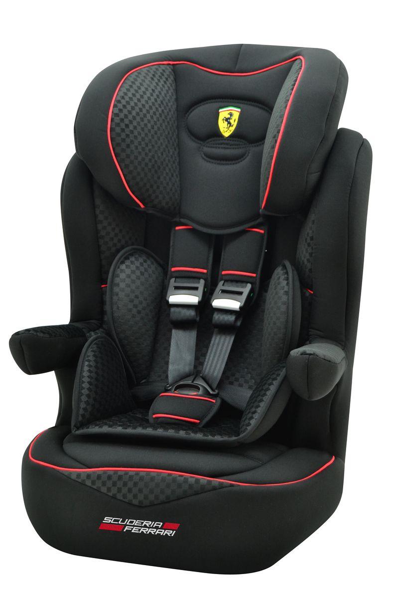 Nania Автокресло Imax SP Ferrari Black от 9 до 36 кг922054Автокресло Nania Imax SP группы 1-2-3 предназначено для детей весом от 9 до 36 кг (от 8 месяцев до 12 лет) и соответствует стандартам ECE R44/04. Благодаря длительному периоду использования и регулируемому по высоте подголовнику Nania Imax SP охватывает все возрастные группы от 8 месяцев до 12 лет (когда кресло уже не нужно). Nania Imax SP было разработано на основе требований безопасности, а также ортопедических факторов: мягкие обивка и подушки, а также анатомическая форма Nania Imax SP обеспечивает комфорт даже в дальних поездках.Nania Imax SP имеет удобные подлокотники, которые при необходимости можно поднять вверх. Система боковой защиты Side Protection (SP) обеспечивает необходимую безопасность даже при боковом столкновении. Подголовник можно отрегулировать по высоте, таким образом автокресло оптимально адаптируется к росту ребенка.5-ти точечные ремни безопасности можно регулировать не только по длине и высоте, но и снять совсем, когда ребенок подрастет.Обивка выполнена из 100% полистирола, которую легко снимается и моется.Серия FERRARI - фирменные цвета итальянского спорткара в сочетании с автокреслом серии LUXE. Гарантирует европейское качество и обеспечивает безопасность пассажира. Технические характеристики: Внешние размеры (Д х Ш х В): 45 см x 45 см x 72-88 смВнутренние размеры (Д х Ш): 32 см x 40 см. Высота спинки:64 см - 75 см. Вес: 4,7 кг. Монтаж в автомобиле: Задний диван или сиденье пассажира. Направление установка: по ходу движения. Класс: I-III, 9-36 кг. Система крепления: 5-точечные ремни безопасности. Ткань: 100% полиэстер, стирать до 30°C.