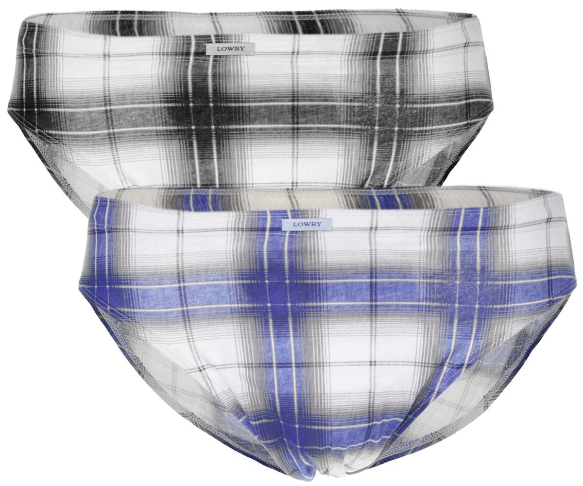 Трусы мужские Lowry, цвет: белый, серый, синий, черный, 2 шт. MB-306. Размер L (48) трусы lowry трусы