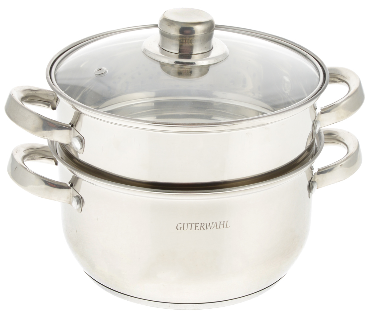 Пароварка  Guterwahl  с крышкой, 2-уровневая, 3,3 л - Посуда для приготовления