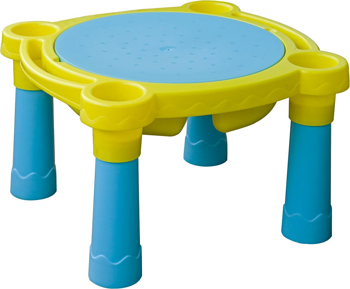 Marian Plast Стол детский Песок Вода цвет желтый голубой