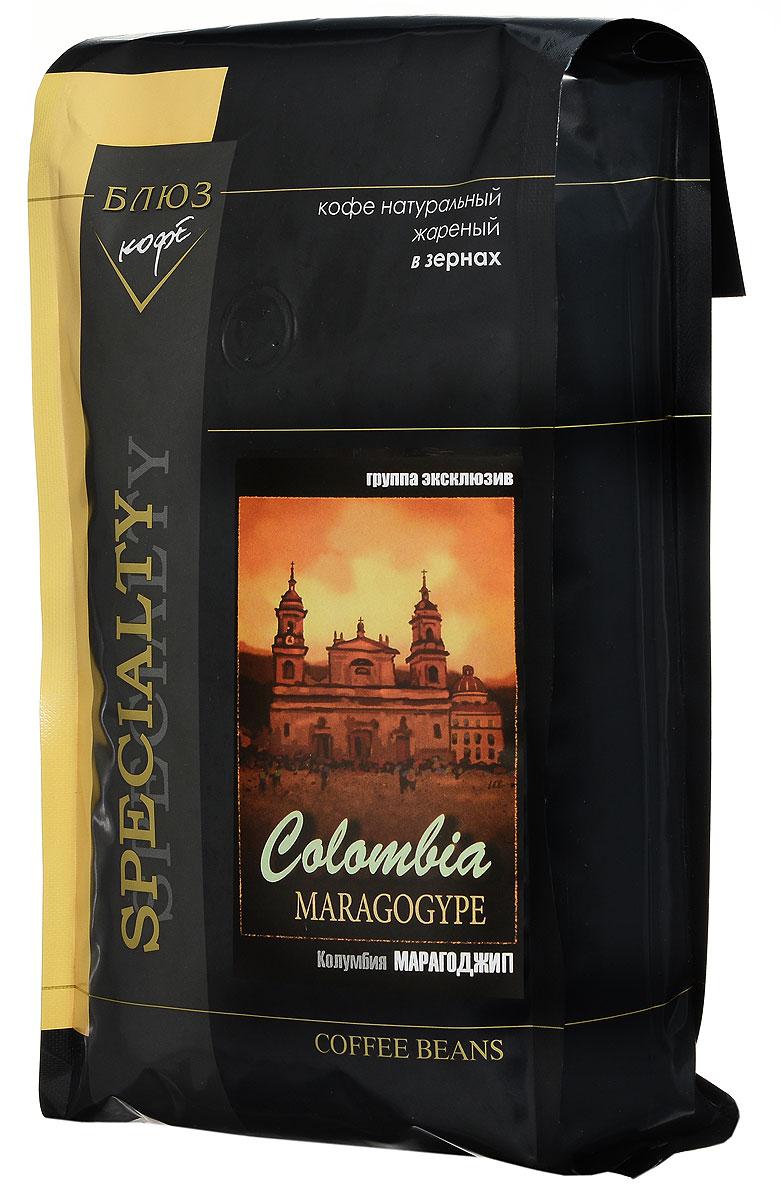 Блюз Марагоджип Колумбия кофе в зернах, 1 кг4600696410112Кофе Блюз Марагоджип Колумбия выращивается в самых экологически чистых регионах Латинской Америки. Напиток имеет тонкий, ярко выраженный аромат, а также мягкий, слегка винный вкус. Настой насыщенный, со средней кислотностью.Кофе: мифы и факты. Статья OZON Гид