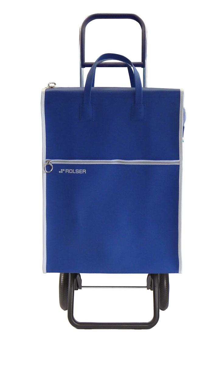 Сумка хозяйственная Rolser, на колесиках, цвет: синий, 40 л. LID001 сумка хозяйственная rolser на колесиках цвет verde 40 л