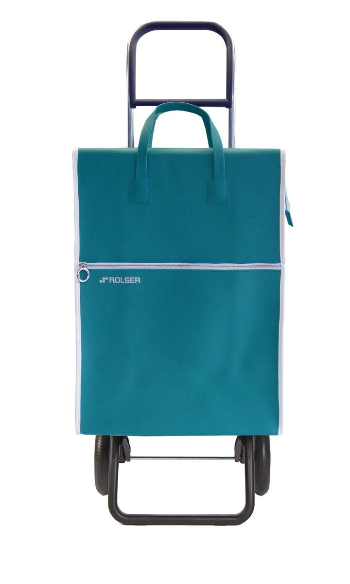 Сумка хозяйственная Rolser, на колесиках, цвет: бирюзовый, 40 л сумка хозяйственная rolser на колесиках цвет verde 40 л