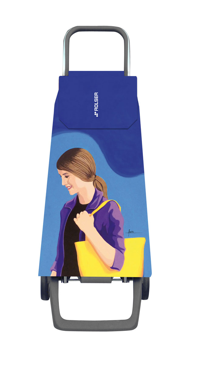 Сумка хозяйственная Rolser, на колесиках, цвет: синий, голубой, 40 лJET029 azul-loisАлюминиевая тележка для покупок Rolser с 2 колесами. Колеса выполнены из резины EVA. Эргономичная ручка, складываемая передняя подставка. Сумка имеет форму рюкзака, ткань полиэстер, влагоустойчивая. Тележка не складывается. Объем: 40 л. Диаметр колес: 13,2 см. Рекомендованная нагрузка: 25 кг.Чистка ручная или химчистка.
