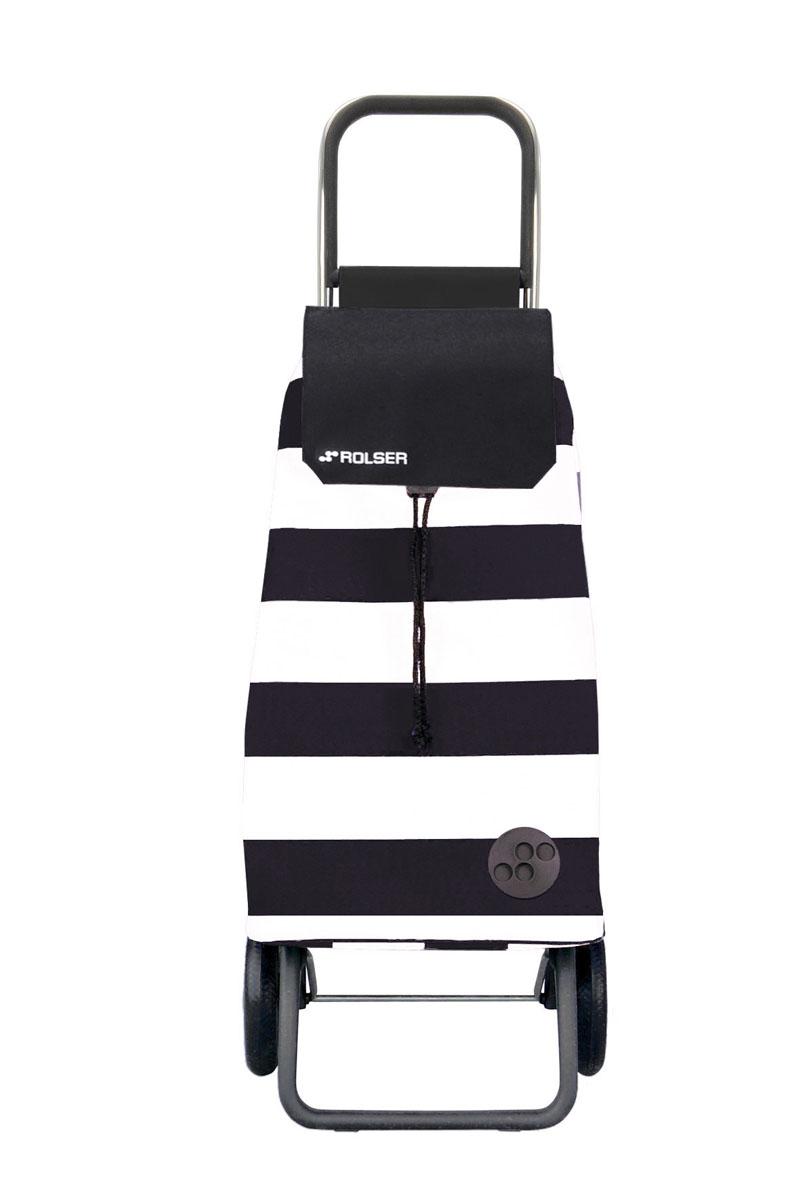 Сумка хозяйственная Rolser, на колесиках, цвет: белый, черный, 51 л. MOU053MOU053 blanco/negroАлюминиевая тележка для покупок Rolser с 2 колесами. Колеса выполнены из резины EVA. Складываемая передняя подставка занимает минимальное место в сложенном виде при хранении. Сумка имеет форму рюкзака, ткань полиэстер, влагоустойчивая, имеет удобное закрытие сумки и легко крепится на раме. Тележка не складывается. Объем: 51 л. Диаметр колес: 16,5 см. Рекомендованная нагрузка: 25 кг.Чистка ручная или химчистка.