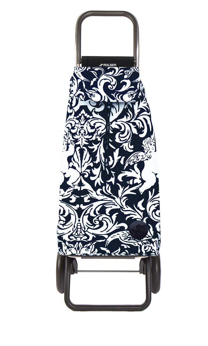 Сумка хозяйственная Rolser, на колесиках, цвет: белый, черный, 51 л. MOU111 сумка хозяйственная rolser на колесиках цвет verde 40 л