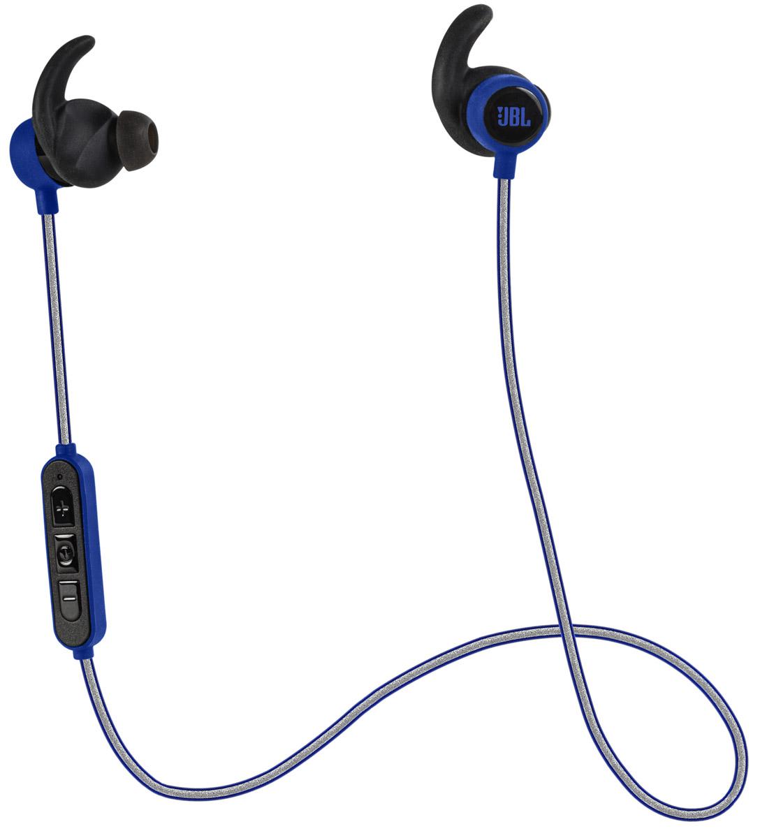 JBL Reflect Mini BT, Blue беспроводные наушникиJBLREFMINIBTBLUJBL Reflect Mini BT - это спортивные беспроводные наушники. Защищенные от капель пота, с вкладышами, не торчащими из ушей, эти сверхлегкие наушники обеспечивают потрясающее звучание JBL, вдохновляя вас на спортивные достижения. Дизайн, разработанный специально для тренировок, защитит наушники от капель пота, и они будут дарить легендарное звучание JBL несмотря ни на что.Поддержка технологии Bluetooth позволяет передавать потоковую музыку в высоком качестве с мобильных устройств. Источником звука может быть мобильный телефон, планшетное устройство или ноутбук - эта модель сможет с ним работать. Выполняйте кроссфит с уверенностью и тренируйтесь с легкостью, поскольку спортивные Bluetooth-наушники JBL Reflect Mini не ограничивают вас проводами и обеспечивают 8 часов воспроизведения через высококачественные 5,8-мм мембраны. Пульт управления и микрофон, управляемые одной кнопкой, стильный ассортимент цветов и возможность с легкостью очищать наушники после использования понравятся в равной степени как тем, кто обращается к спорту лишь по выходным, так и серьезным спортсменам.Светоотражающий кабель хорошо заметен в темное время суток.