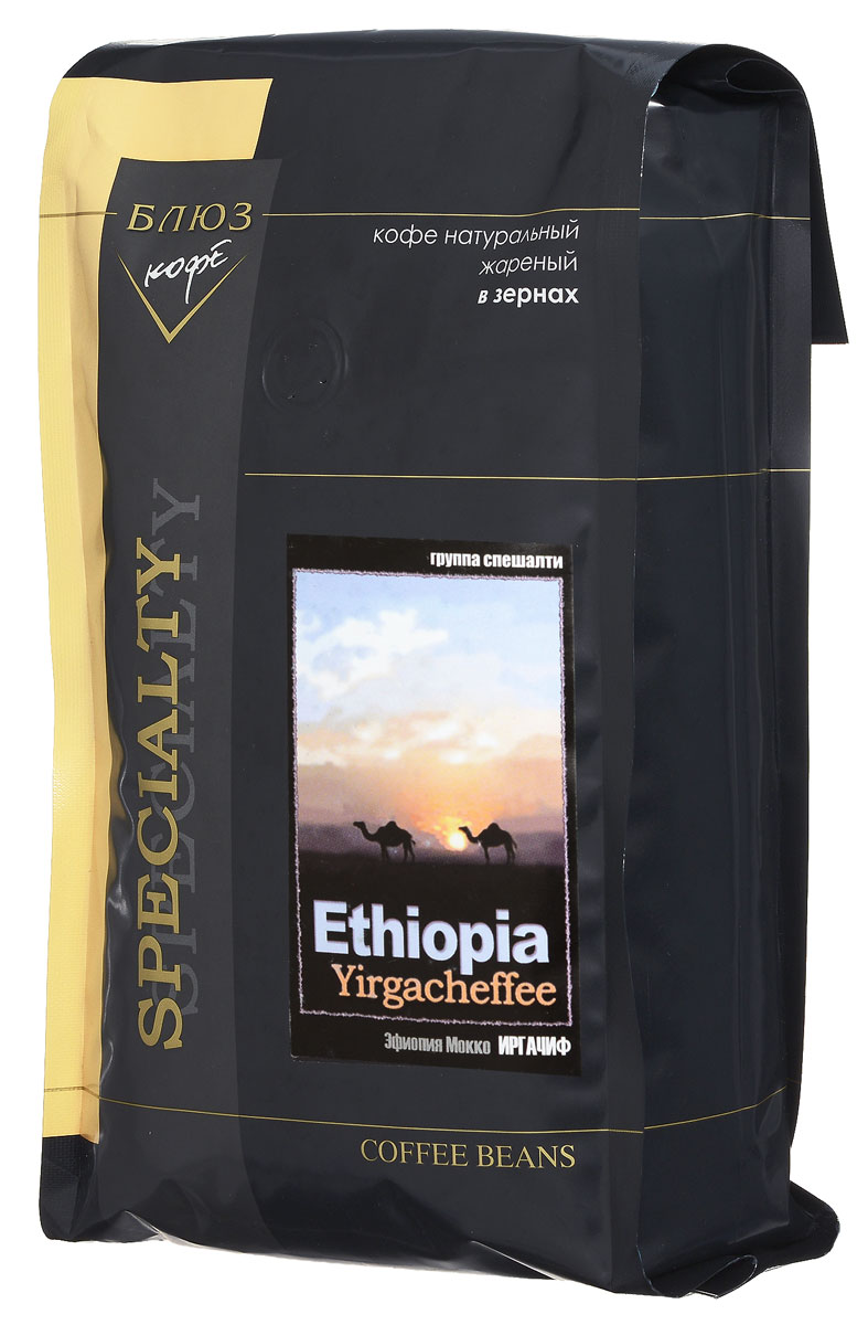Блюз Эфиопия Мокко Иргачиф кофе в зернах, 1 кг блюз ароматизированный сливочный джо кофе в зернах 1 кг