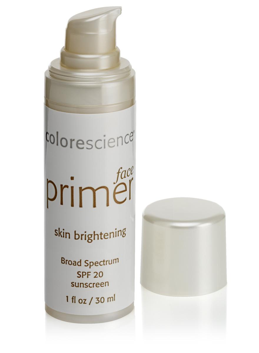 Colorescience Праймер (основа под макияж) корректирующий SPF20, 30 мл3118Rev1Придает сияние тусклой, сухой, зрелой коже. Увлажняющие ингредиенты в сочетании с экстрактом голубых водорослей, витамином Е и мощными антиоксидантами улучшают вид кожи, устраняют тусклость и желтоватый оттенок. Полупрозрачный теплый оттенок праймера восстанавливает однородный цвет лица и слегка осветляет кожу.