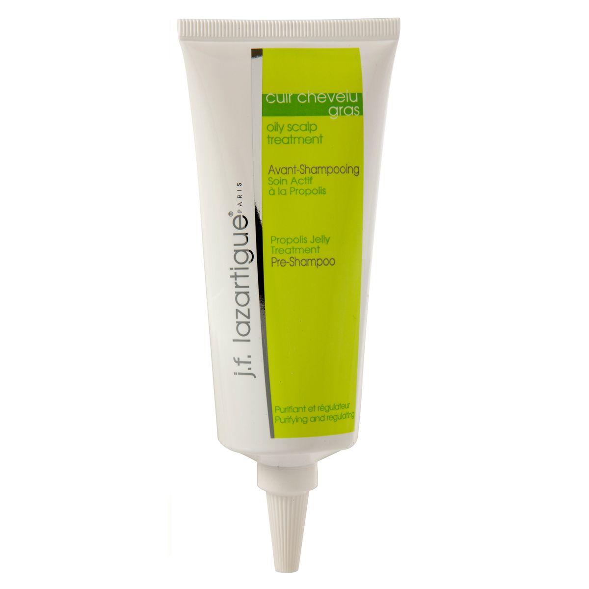 J.F.Lazartigue Гель с прополисом для жирной кожи головы 75 мл01110Прополис обезвреживает микроорганизмы, которые способствуют развитию себореи и образованию перхоти. Гель с прополисом тщательно очищает кожу головы, способствует регуляции выделения кожного сала, снимает раздражение и зуд.