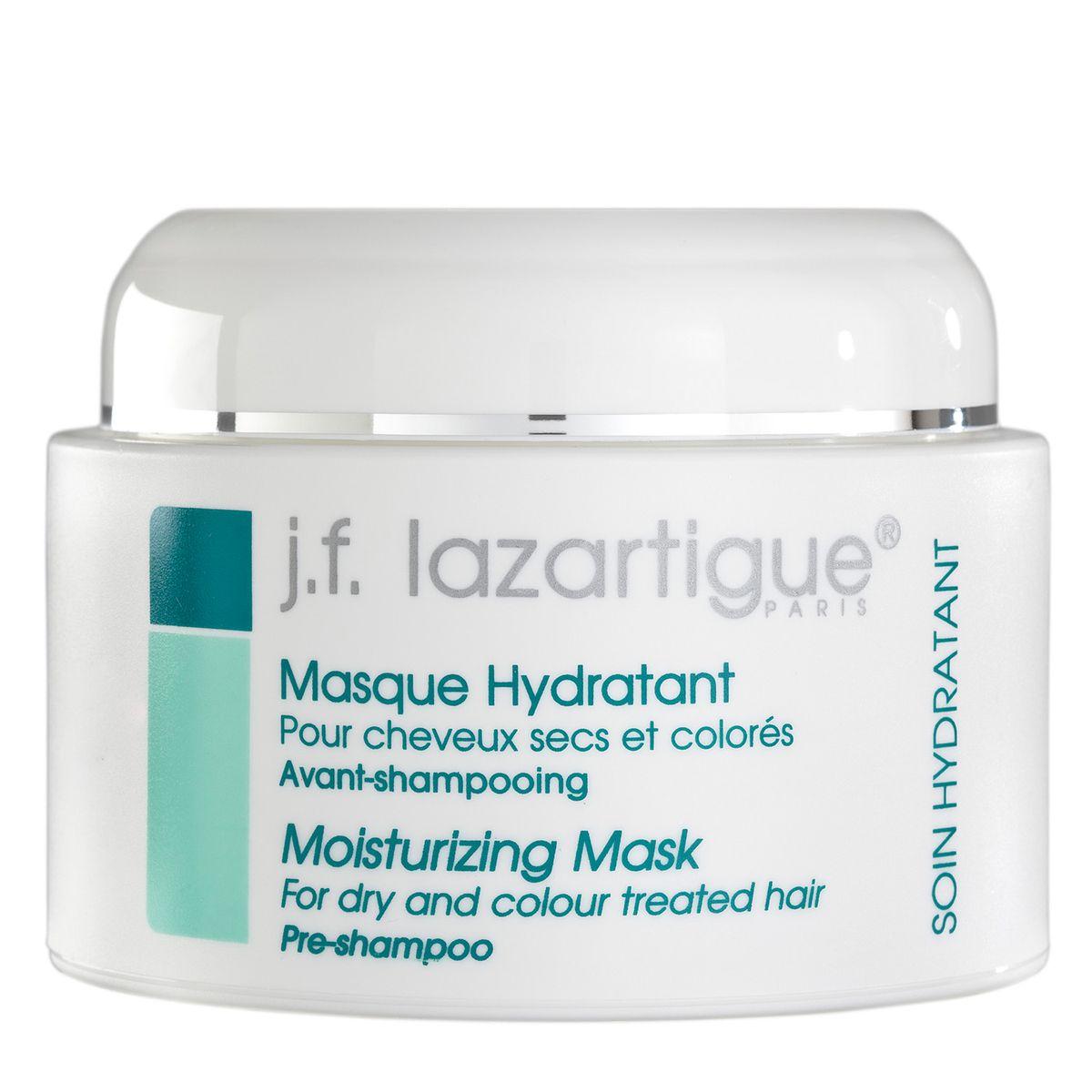 J.F.Lazartigue Увлажняющая маска 250 мл01115Маска ухаживает за волосами и кожей головы, восстанавливает поврежденные структуры, увлажняет, защищает, оказывает стимулирующее действие. Обеспечивает освежающий эффект в течение всего дня, предотвращает спутывание волос, снимает их наэлектризованность, восстанавливает блеск. Волосы становятся более послушными и легче укладываются. Маска фиксирует и поддерживает действие красящего пигмента. Цвет окрашенных волос становится ярче, они сияют обновленным блеском и остаются пышными.