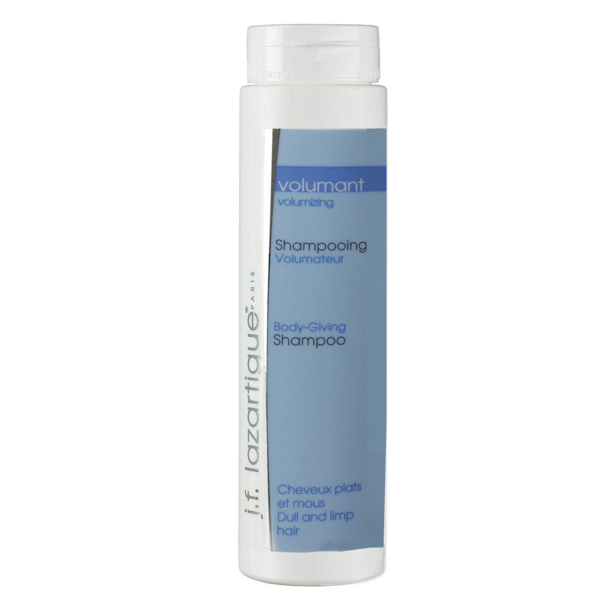 J.F.Lazartigue Шампунь для придания объема 200 мл01208Шампунь для придания объема для всех типов волос, требующих решения этой проблемы. Подходит для частого (даже ежедневного) использования. Представляет собой изумрудный гель с прекрасным цветочно-фруктовым ароматом, что делает его очень приятным в использовании. Содержит микроэлементы морских водорослей и пшеничные протеины, которые превосходно оживляют волосы. Они становятся послушными в укладке и приобретают максимально возможный объем.