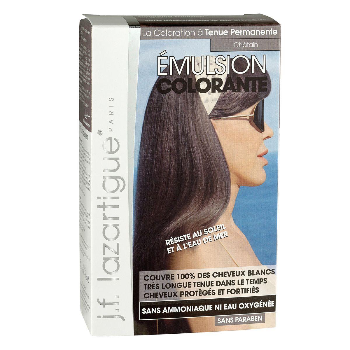 J.F.Lazartigue Оттеночная эмульсия для волос Каштан 60 мл01705Благодаря оригинальной формуле полностью (на 100%) скрывает седину, длительное время сохраняет цвет, поддерживает здоровье и жизненную силу волос и сохраняет эти качества, несмотря на воздействие солнечных лучей, морской воды и прочих неблагоприятных экологических факторов. Не осветляет, не повреждает, а укрепляет волосы. Не содержит аммиака, перекиси водорода и парабенов. Не предназначена для окрашивания бровей и ресниц.
