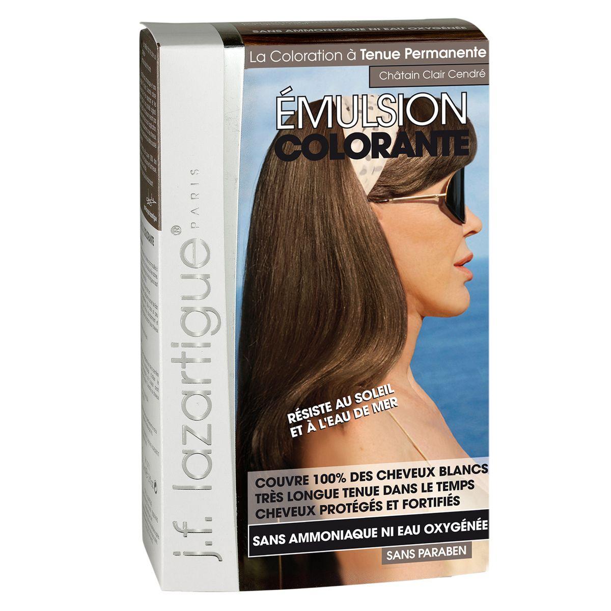 J.F.Lazartigue Оттеночная эмульсия для волос Светло-пепельный каштан 60 мл01729Благодаря оригинальной формуле полностью (на 100%) скрывает седину, длительное время сохраняет цвет, поддерживает здоровье и жизненную силу волос и сохраняет эти качества, несмотря на воздействие солнечных лучей, морской воды и прочих неблагоприятных экологических факторов. Не осветляет, не повреждает, а укрепляет волосы. Не содержит аммиака, перекиси водорода и парабенов. Не предназначена для окрашивания бровей и ресниц.