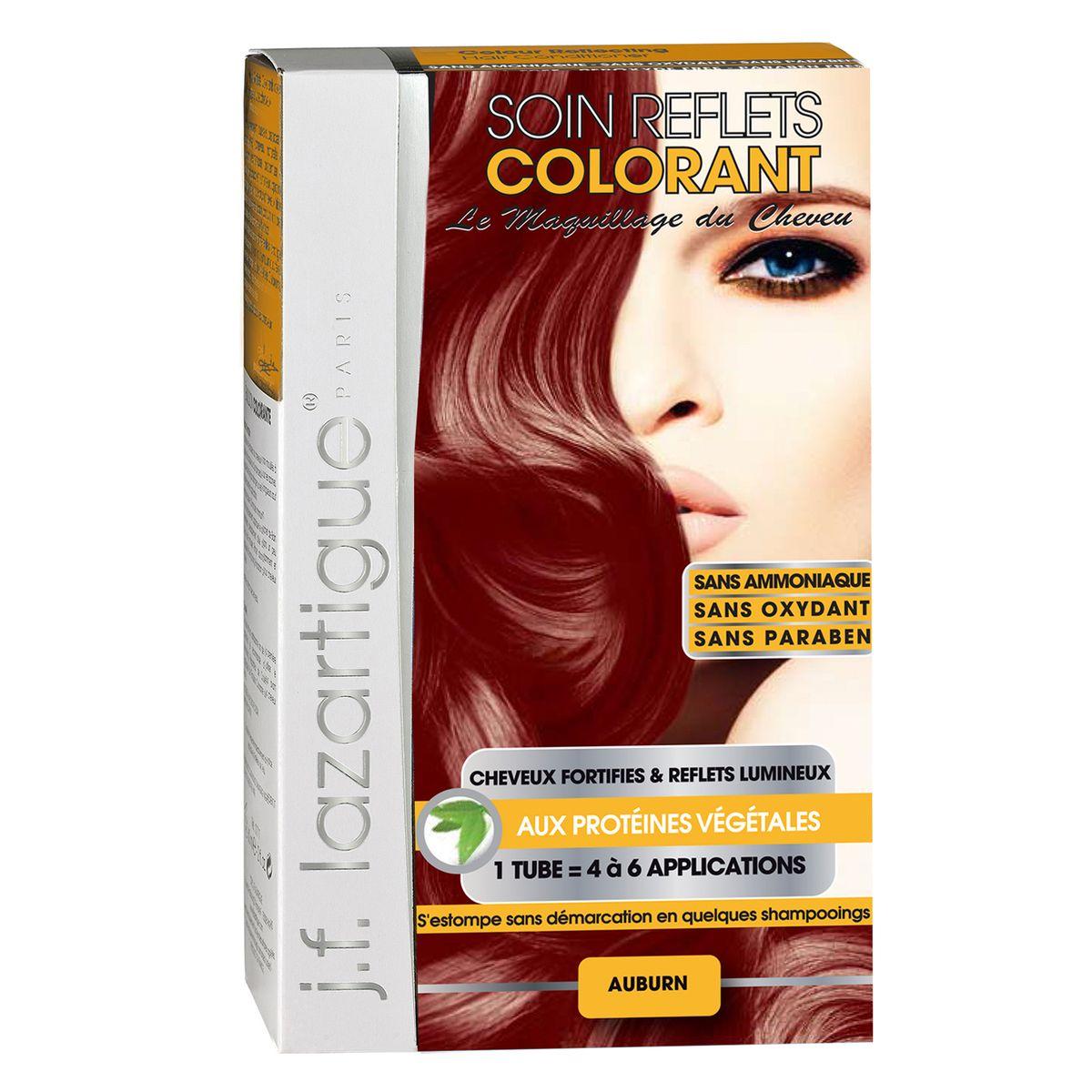 J.F.Lazartigue Оттеночный кондиционер для волос Рыжий 100 мл61633Оттеночный кондиционер J.F.LAZARTIGUE – это лечебный макияж для Ваших волос. Два эффекта: кондиционирование волос и легкий оттенок. Особенности: придает новый или более теплый (или холодный) оттенок, делает тон темнее или акцентирует цвет, оживляет естественный цвет или придает яркость тусклым и выцветшим на солнце волосам. Закрашивает небольшой процент седины! После мытья волос шампунем (3-6 раз) смывается. Для достижения индивидуального оттенка можно смешать два разных кондиционера: добавить к выбранному ТЕМНЫЙ РЫЖИЙ (Auburn), МЕДНЫЙ (Copper) и т.п. Не осветляет волосы. Не содержит аммиака и перекиси водорода. Не содержит парабенов. Не предназначен для окрашивания бровей и ресниц.
