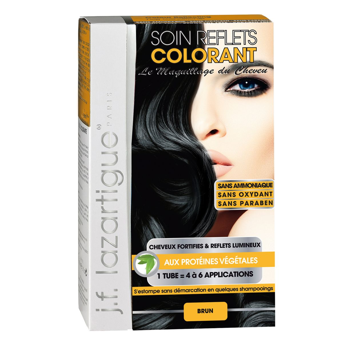 J.F.Lazartigue Оттеночный кондиционер для волос Черный 100 мл61635Оттеночный кондиционер J.F.LAZARTIGUE – это лечебный макияж для Ваших волос. Два эффекта: кондиционирование волос и легкий оттенок. Особенности: придает новый или более теплый (или холодный) оттенок, делает тон темнее или акцентирует цвет, оживляет естественный цвет или придает яркость тусклым и выцветшим на солнце волосам. Закрашивает небольшой процент седины! После мытья волос шампунем (3-6 раз) смывается. Для достижения индивидуального оттенка можно смешать два разных кондиционера: добавить к выбранному ТЕМНЫЙ РЫЖИЙ (Auburn), МЕДНЫЙ (Copper) и т.п. Не осветляет волосы. Не содержит аммиака и перекиси водорода. Не содержит парабенов. Не предназначен для окрашивания бровей и ресниц.