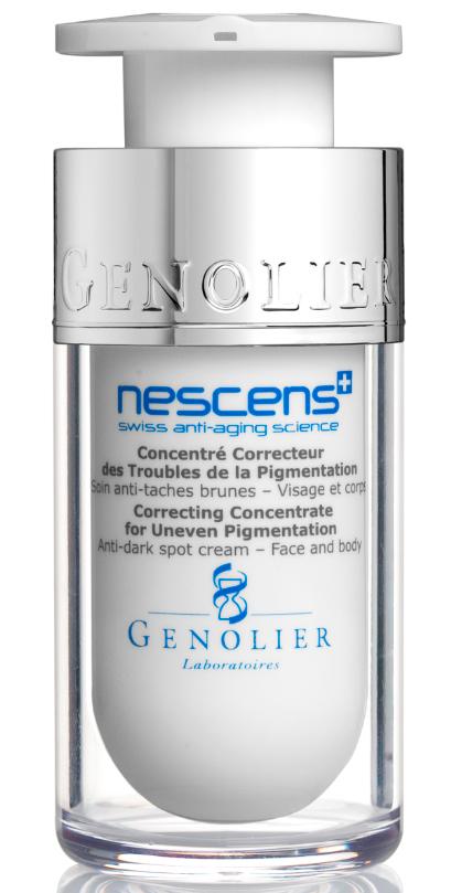 Nescens Концентрат-корректор пигментных пятен, 15млNS00107Технологии NESCENS – это значительный прорыв в области коррекции изменений кожи, связанных с фото-старением. Регулярное нанесение этого активного концентрата обеспечивает омолаживающий эффект: темные пигментные пятна становятся светлее, улучшается тон кожи. Основное действие ингредиентов: усиливают клеточную пролиферацию и биосинтез молекулярных составляющих, улучшая механические свойства кожи (эластичность, прочность, тонус), разглаживают поверхность кожи, эффективно разглаживают и обновляют ткани, усиливают защитные свойства кожи и противостоят фотостарению.