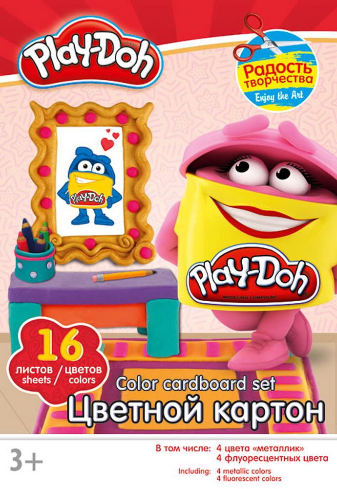 Play-Doh Набор цветного картона 16 листов цвет папки красный кукольные домики картонный папа кукольный домик из картона четыре комнаты