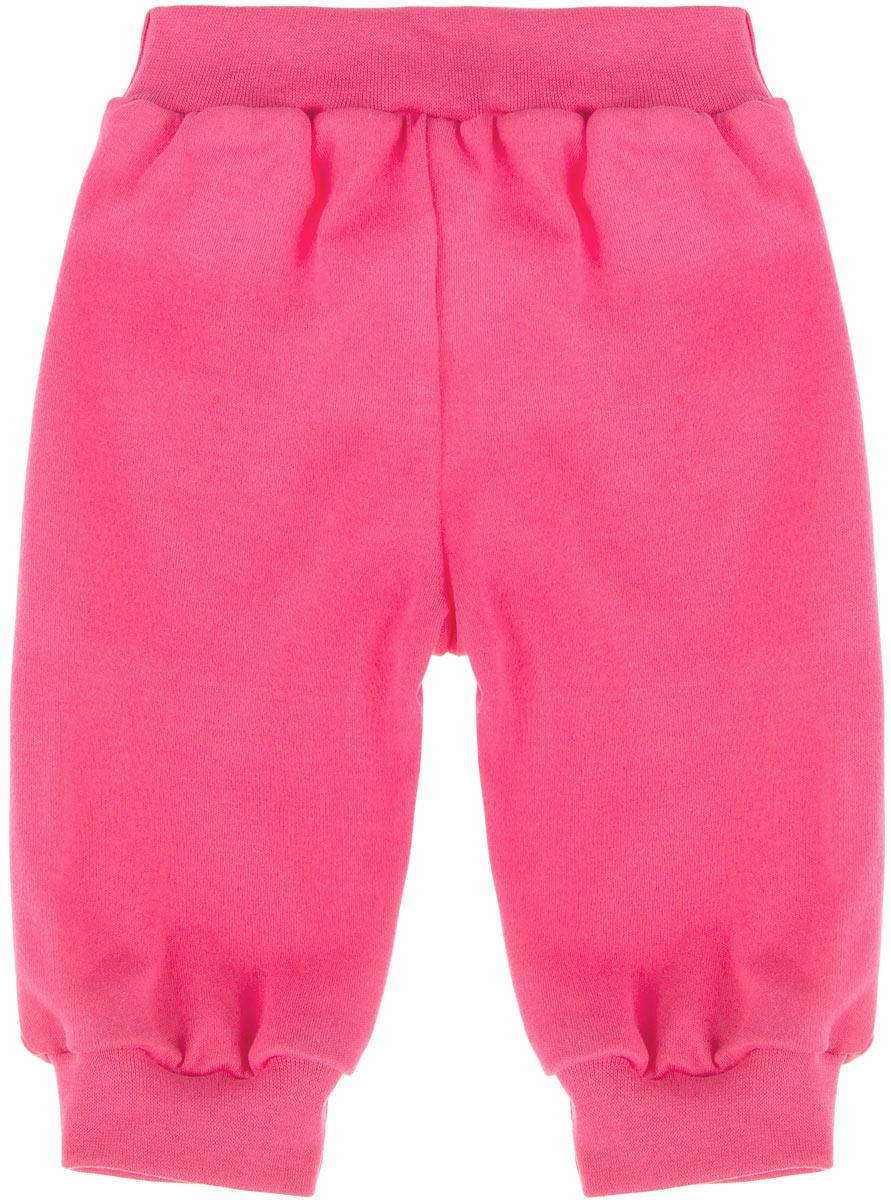 Штанишки на широком поясе для девочки КотМарКот, цвет: ярко-розовый. 3541. Размер 623541Удобные штанишки для девочки КотМарКот на широком поясе послужат идеальным дополнением к гардеробу вашей малышки. Штанишки, изготовленные из натурального хлопка - интерлока, необычайно мягкие и легкие, не раздражают нежную кожу ребенка и хорошо вентилируются, а эластичные швы приятны телу младенца и не препятствуют его движениям. Штанишки благодаря мягкому эластичному поясу не сдавливают животик ребенка и не сползают, обеспечивая ему наибольший комфорт, идеально подходят для ношения с подгузником и без него. Снизу брючины дополнены широкими трикотажными манжетами, не пережимающими ножку. Штанишки очень удобный и практичный вид одежды для малышей, которые уже немного подросли. Отлично сочетаются с футболками, кофточками и боди.В таких штанишках вашей малышке будет уютно и комфортно!