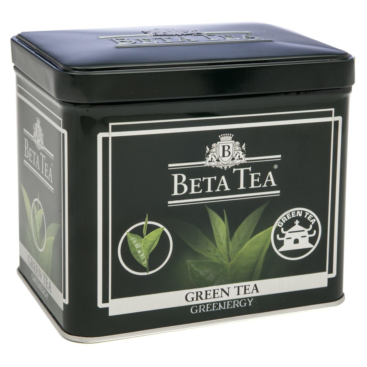 Beta Tea зеленый листовой чай, 100 г (жестяная банка)8690717005300Благодаря своим целебным свойствам зеленый чай Beta Tea занимает особое место в ассортименте компании. Основная задача при производстве этого сортасостоит в том, чтобы сохранить лечебные природные биологически активные вещества свежих листьев таким образом, чтобы они смогли высвободиться во время заваривания.