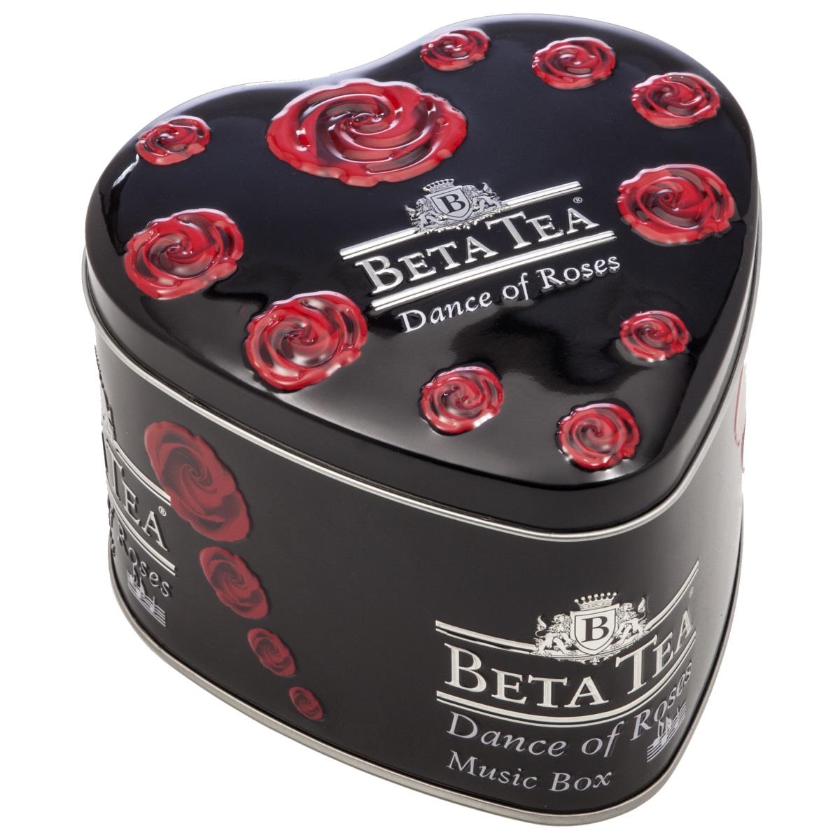Beta Tea Танец роз черный чай, 100 г (музыкальная шкатулка) beta tea де люкс крупнолистовой чай 225 г подарочная упаковка
