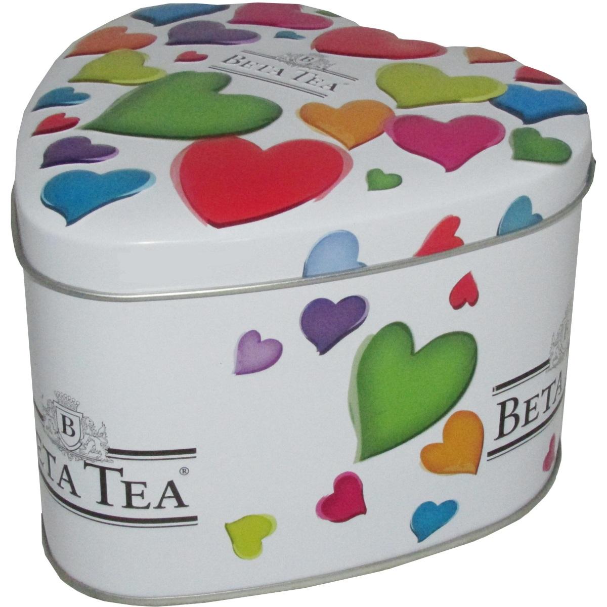 Beta Tea Маленькие сердца черный чай, 100 г (музыкальная шкатулка) beta tea де люкс крупнолистовой чай 225 г подарочная упаковка