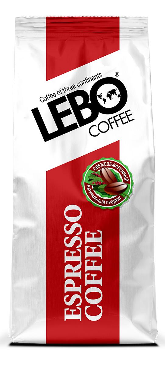 Lebo Espresso Арабика кофе в зернах, 500 г кофе parenti кофе в зернах