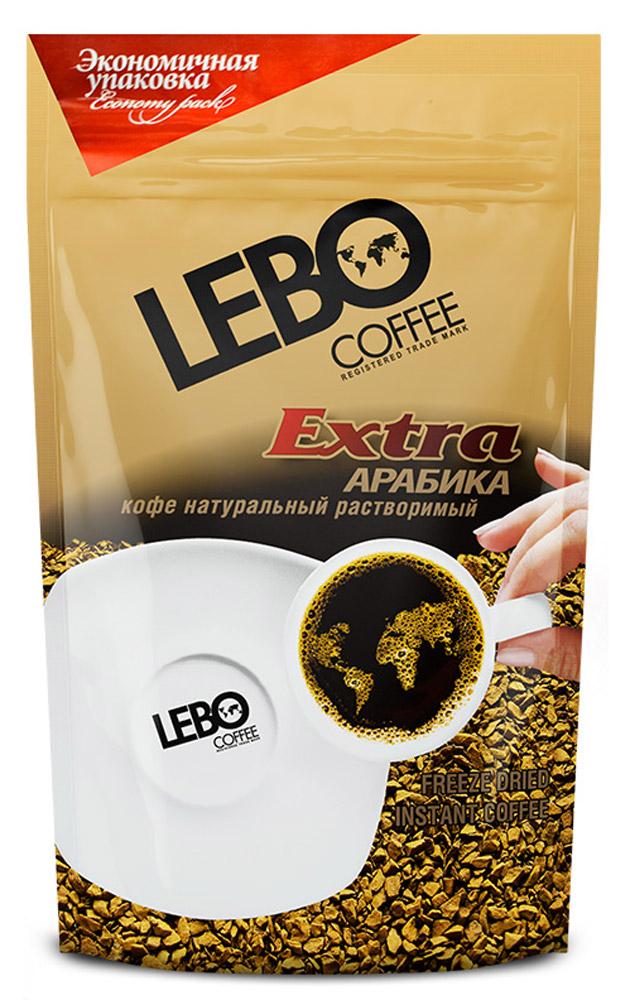 Lebo Extra кофе растворимый, 170 г4602076001149Натуральный сублимированный растворимый кофе Lebo Extra приготовлен из отборных сортов кофе, выращенных на высокогорных плантациях Бразилии. Кофе с богатым ароматом и плотным вкусом. С самого первого глотка его бодрящий вкус и деликатный, богатый аромат покорит даже самого настоящего гурмана.