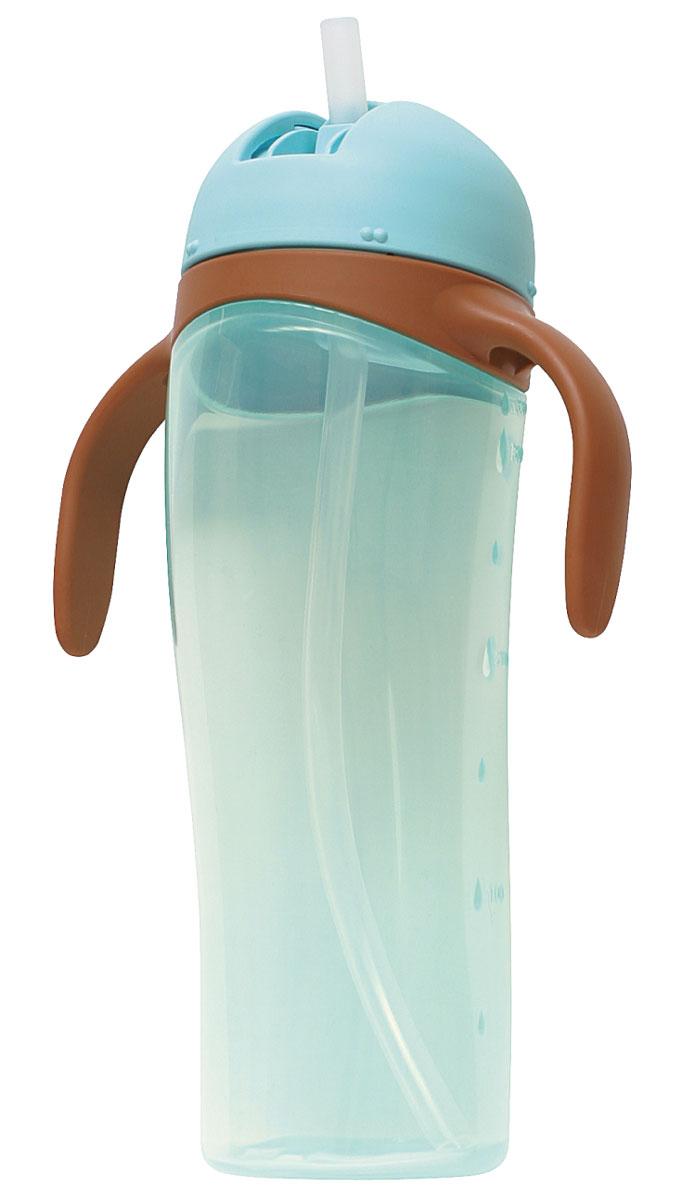 Pigeon Поильник высокий с трубочкой, 330 мл pigeon чашка поильник mag mag с трубочкой зеленый с 8 мес 200 мл