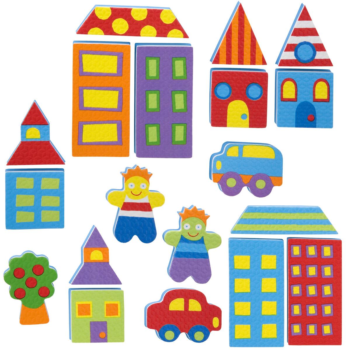 Alex Игрушка для ванной Фигурки-стикеры Город игрушки для ванной alex игрушки для ванны джунгли