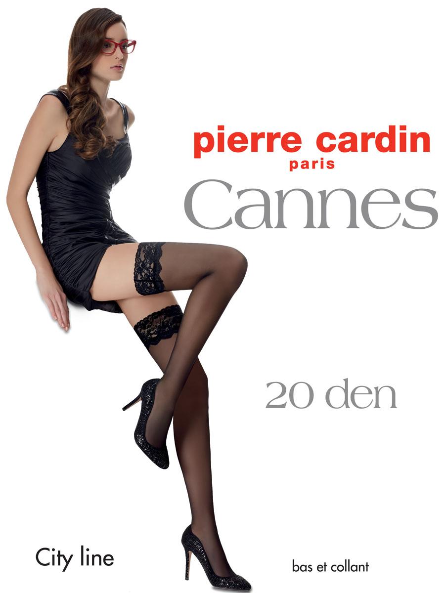 Чулки Pierre Cardin Cannes, цвет: Bianco (белый). Размер 4 (46/48)Cr CannesОчаровательные чулки Pierre Cardin Cannes идеально подчеркнут контур ваших ножек. Кружевная резинка шириной 9 см, украшающая верх чулка, имеет двойную силиконовую поддержку, что обеспечивает надежное удерживание на ноге без использования пояса. Чулки эластичные, шелковистые, с отформованной пяткой, они легко тянутся, что делает их удобными в носке.