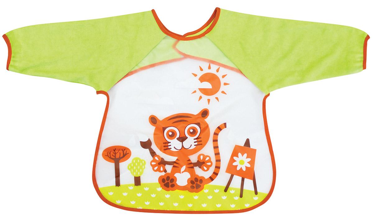 Lubby Нагрудник детский с рукавами В мире животных -  Все для детского кормления